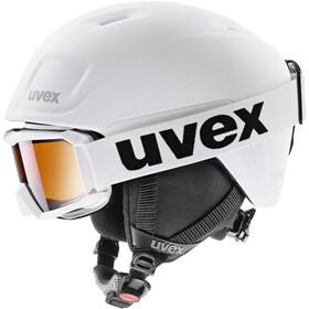 UVEX Heyya Pro Set Helm Kinderen, white black mat
